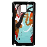 Colorful Graffiti In Amsterdam Samsung Galaxy Note 4 Case (Black) Front