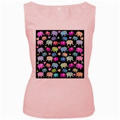Cute elephants  Women s Pink Tank Top