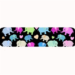 Cute elephants  Large Bar Mats