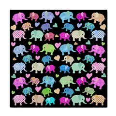 Cute elephants  Face Towel