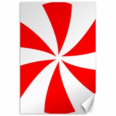 Candy Red White Peppermint Pinwheel Red White Canvas 20  X 30