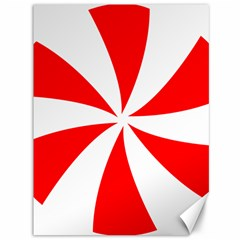 Candy Red White Peppermint Pinwheel Red White Canvas 36  X 48