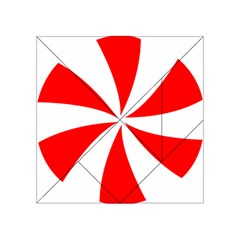 Candy Red White Peppermint Pinwheel Red White Acrylic Tangram Puzzle (4  x 4 )