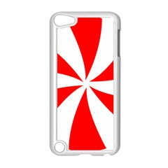Candy Red White Peppermint Pinwheel Red White Apple Ipod Touch 5 Case (white)