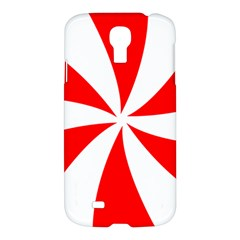 Candy Red White Peppermint Pinwheel Red White Samsung Galaxy S4 I9500/i9505 Hardshell Case