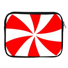 Candy Red White Peppermint Pinwheel Red White Apple iPad 2/3/4 Zipper Cases