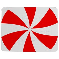 Candy Red White Peppermint Pinwheel Red White Jigsaw Puzzle Photo Stand (rectangular)
