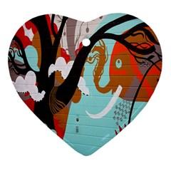 Colorful Graffiti In Amsterdam Ornament (heart)