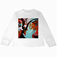 Colorful Graffiti In Amsterdam Kids Long Sleeve T Shirts