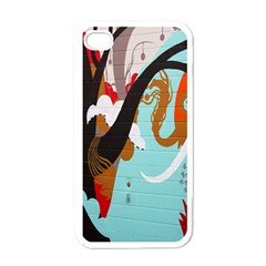 Colorful Graffiti In Amsterdam Apple iPhone 4 Case (White)