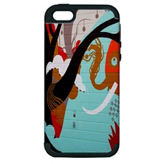 Colorful Graffiti In Amsterdam Apple iPhone 5 Hardshell Case (PC+Silicone)