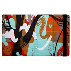 Colorful Graffiti In Amsterdam Apple Ipad 2 Flip Case