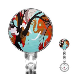 Colorful Graffiti In Amsterdam Stainless Steel Nurses Watch