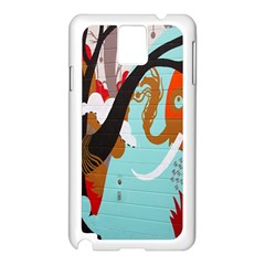 Colorful Graffiti In Amsterdam Samsung Galaxy Note 3 N9005 Case (White)
