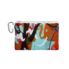 Colorful Graffiti In Amsterdam Canvas Cosmetic Bag (s)
