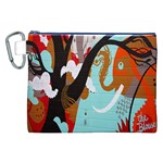 Colorful Graffiti In Amsterdam Canvas Cosmetic Bag (XXL) Front