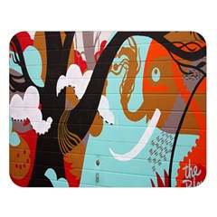 Colorful Graffiti In Amsterdam Double Sided Flano Blanket (Large)
