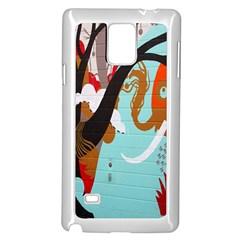 Colorful Graffiti In Amsterdam Samsung Galaxy Note 4 Case (white)