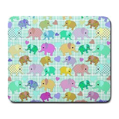 Cute elephants  Large Mousepads