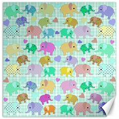 Cute elephants  Canvas 20  x 20