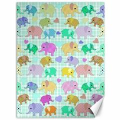 Cute elephants  Canvas 36  x 48