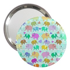 Cute elephants  3  Handbag Mirrors