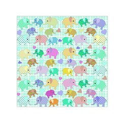 Cute elephants  Small Satin Scarf (Square)