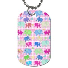 Cute elephants  Dog Tag (Two Sides)