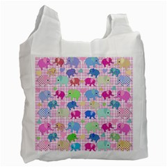 Cute elephants  Recycle Bag (Two Side)