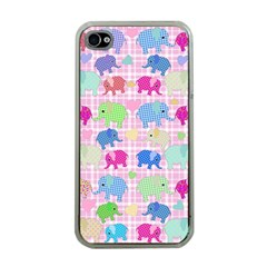 Cute elephants  Apple iPhone 4 Case (Clear)