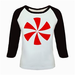 Candy Red White Peppermint Pinwheel Red White Kids Baseball Jerseys