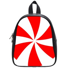 Candy Red White Peppermint Pinwheel Red White School Bags (small)