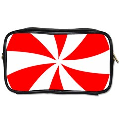 Candy Red White Peppermint Pinwheel Red White Toiletries Bags 2 Side