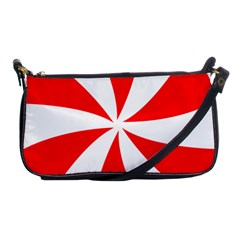 Candy Red White Peppermint Pinwheel Red White Shoulder Clutch Bags