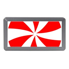 Candy Red White Peppermint Pinwheel Red White Memory Card Reader (mini)