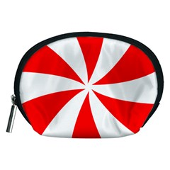 Candy Red White Peppermint Pinwheel Red White Accessory Pouches (medium)