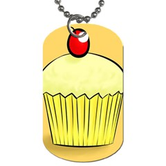 Cake Bread Pie Cerry Dog Tag (two Sides)