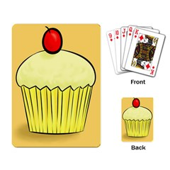 Cake Bread Pie Cerry Playing Card