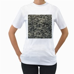 Us Army Digital Camouflage Pattern Women s T-Shirt (White) (Two Sided)