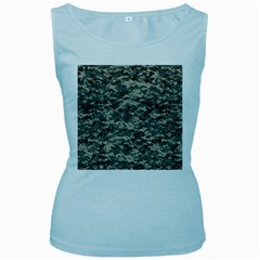 Us Army Digital Camouflage Pattern Women s Baby Blue Tank Top