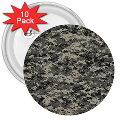Us Army Digital Camouflage Pattern 3  Buttons (10 pack)