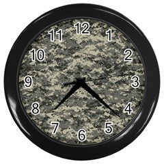 Us Army Digital Camouflage Pattern Wall Clocks (black)