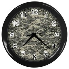 Us Army Digital Camouflage Pattern Wall Clocks (Black)