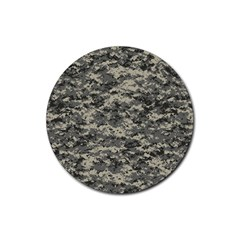 Us Army Digital Camouflage Pattern Rubber Coaster (round)