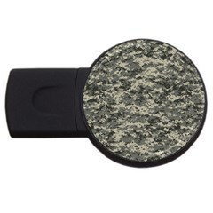 Us Army Digital Camouflage Pattern Usb Flash Drive Round (2 Gb)
