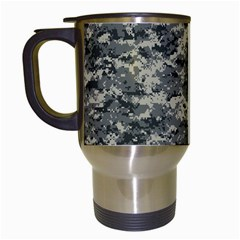 Us Army Digital Camouflage Pattern Travel Mugs (White)