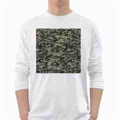 Us Army Digital Camouflage Pattern White Long Sleeve T-Shirts