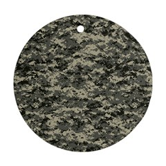 Us Army Digital Camouflage Pattern Round Ornament (two Sides)