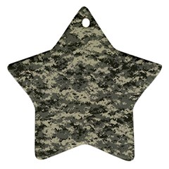 Us Army Digital Camouflage Pattern Star Ornament (two Sides)