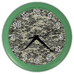 Us Army Digital Camouflage Pattern Color Wall Clocks